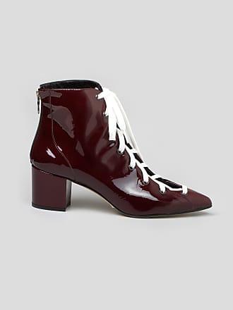 Sheila Bordeaux Lala Berlin Boot Leather Patent Open twTRO8