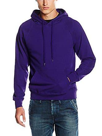 purple Of Fruit The Loom Ss056m Violet Sweat Homme Capuche Shirt À HxZxvw6