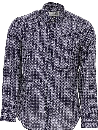 Margiela azul camiseta hombres algod marino de Camisas Maison para R1qIIp 146c7f838d50b