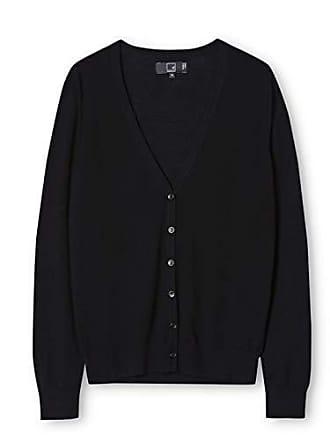 38 Femme Noir En Avec Meraki black Mérinos Col V Small taille Fabricant Cardigan Laine qa18wwICvx