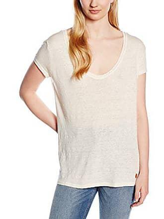 Basic Femme Agent Shirt Neck V T Double M Brut Linen Chemise xT8wqwP