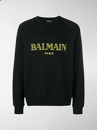 Neck Balmain Logo Sweatshirt Crew NynO0vm8w