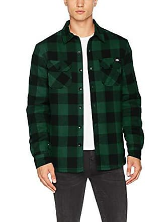Manches Dickies Homme Longues Vert Classique Chemise CasualCol Small 1JKlFTc