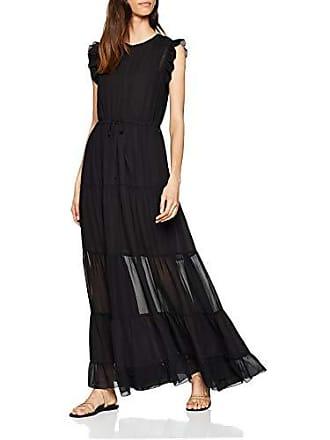 Vestido 08 Para con Soda large Mujer nero X Abito Maison Maxi Scotch trasparenti Tiered inserti Negro xzwn48OXq1