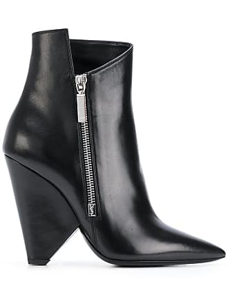 Structuré Noir Saint À Laurent Talon Bottines fqqBYwz