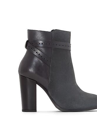 Redoute Bleu Cuir Cheville Collections Boots Liens La gris 6awBdf6q