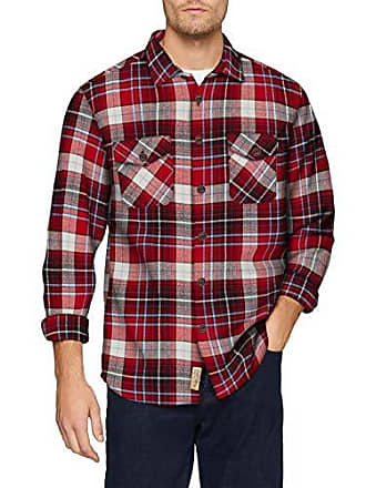 Timezone Camisa Flannell Para Casual Bolandtz Heavy Xl red 5073 Check Hombre White Shirt p1qa4p