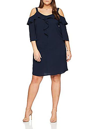 Robe Cold Bleu Evans Fabricant 52 taille Femme Ruffle Shoulder navy 24 tZwxq7a