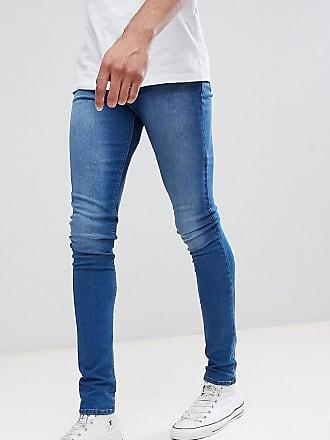 on Asos optik In Blau Jeans Super TallMittelblaue spray EHD2IW9Y