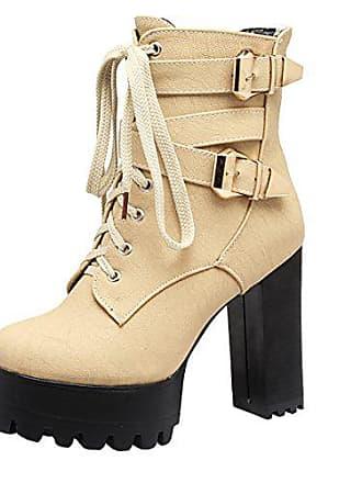 Und Fell Herbst Winter Blockabsatz Damen Schnalle Plateau Uh Stiefeletten Schnür Schuhe Ankle Mit Boots 0nwk8PO