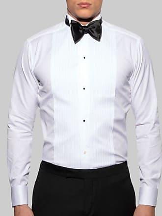 Tie Plissee Hemd Kragen White Eton Slim Fit Mit Wing wOP08kNXn