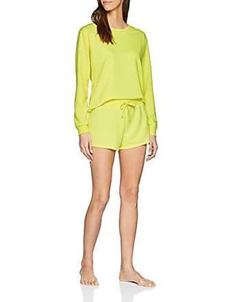 Mujer Small De New Amarillo Conjuntos Look Para Pijama Loopback Yellow bright Neon 85 0q0aCwR