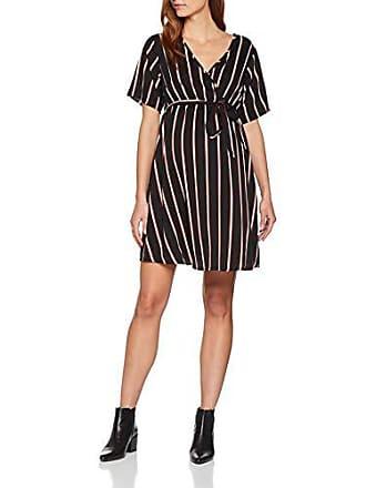 40 Pattern Mujer Archie Fabricante black Del Maternity Look talla Stripe 12 New Wrap Para Negro Vestido xq1HPSwav