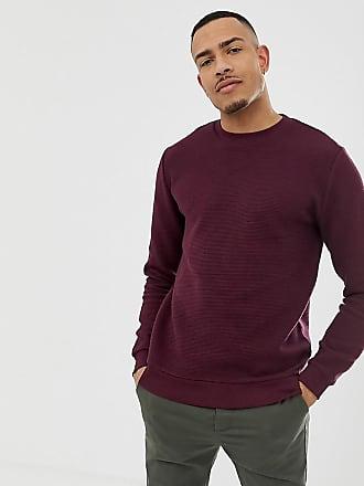 Rot Sweatshirt Burgunderrot In Asos TallGeripptes Yy6gf7b