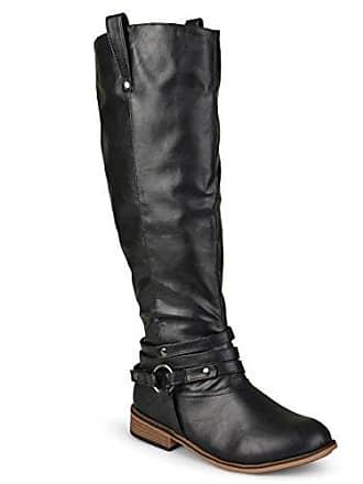 Und Kniehohe Extra strap Eu Collection Kalb schwarz Breites Schwarz Ankle Wide 37 calf Journee Damen Regelmäßige Reitstiefel 8xX6qn8zY