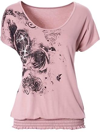Von Rosa In Kurzer rundhals Bodyflirt Bonprix Shirt Arm wYZ44I