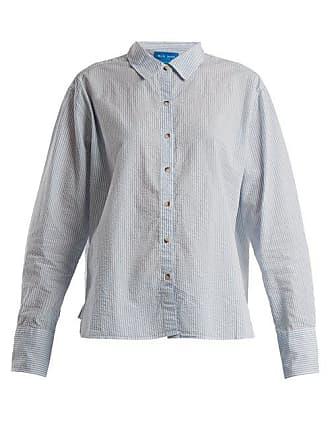 Rayée Chemise Oversize Coton En Froissé Mih Jeans Mini EqwB5qt
