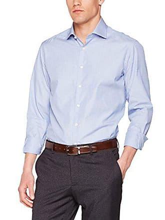 Single Azul 5 Clothing 15 Cuff uk Hackett Camisa Hombre blue On End 1avqt