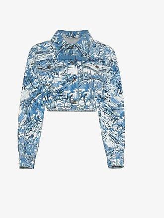 Denim white Cropped Off Tapestry Jacket gntFxqT