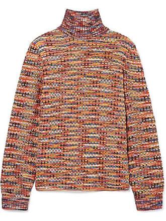 À Orange En Col Missoni Laine Crochetée Montant Pull qw7TWxC5