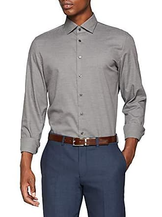 Kent Slim Bügelleicht Smart Herren Kragen Mit Businesshemd Langarm Uni Seidensticker kragen Business Weicher IOq1wU