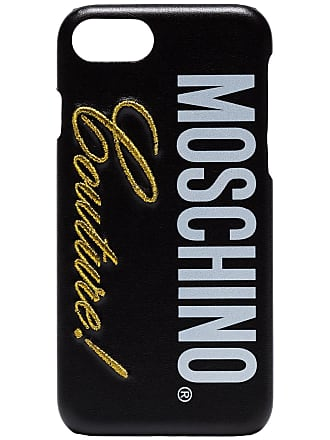 Coque X Moschino Pour à LogoNoir Iphone 9YeH2bWDIE