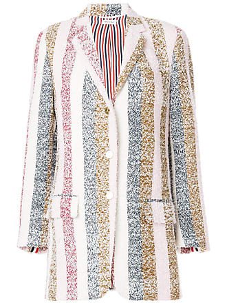 Multicolore Dress Eyelash Striped Coat Thom Browne Sport Tweed PWUAvP0wq