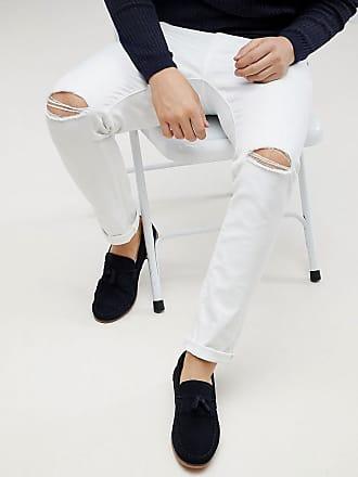 Jeans Mit In Enge Asos Zierrissen Knie Weiß Am 6xqHI15