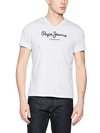 off Blanco Camiseta Para London small Jeans Eggo Hombre Pepe X V White w8q0R