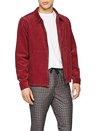 Fabricante Hombre talla Zip Rojo dark 6066988 Del 51 Para Chaqueta Small Burgundy Look Through New Shacket 0FRq0