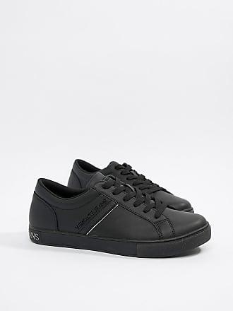 En LogoNoir Versace Couture Baskets Jeans Cuir Avec vm8nN0w