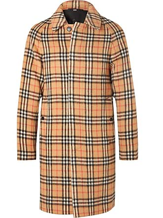 Checked Wool Burberry blend Yellow Coat And Alpaca AaCxpw8xqO