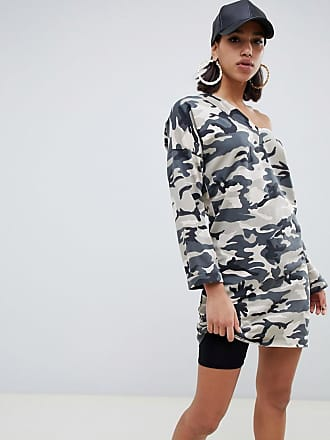 con Felpa Bardot Design Style camouflage stampa e Asos Dress décolleté tqqOnxPH