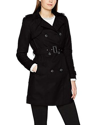 Trenchcoat black Vithree Noos Long Clothes Noir Vila Femme Manteau ZwCqAgn8t