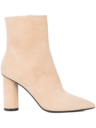 Block Ankle De La Tons Neutres Heel Boots Renta Oscar qfwTAWSa