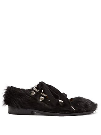 Toga Point Black Faux Toe Fur Archives FlatsWomens SVqMpUz