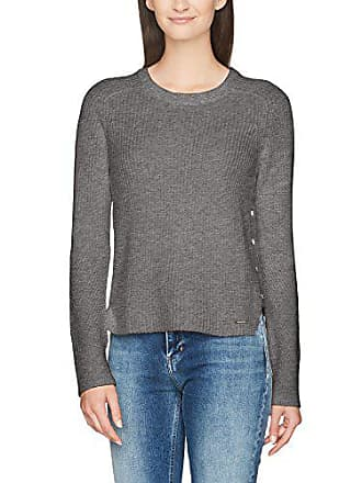 X Heather Sweater Suéter Calvin Grey mid Mujer Cn 025 Para Jeans Ls Klein small Swan Gris wxCB46q