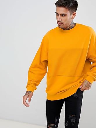 Auf Mit Asos Sweatshirt RückseiteGelb Einsatz Der ÜbergroßesGelbes DIYe9WE2H