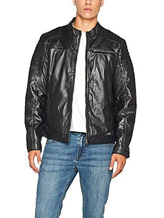 Mustang Jacket Mens nero 1000 large X Rocha Black Leather RRvnx1rO
