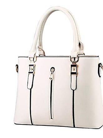 Schräge Handtasche Damen Kreuz Gkkxue Modische Tasche Schulter onesize tasche Reißverschluss white XBqOEqd1w