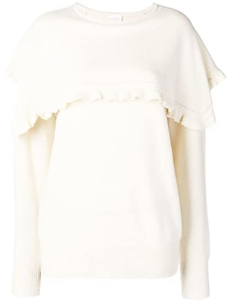See Blanc By Ruffle Chloé Trimming Sweater wfwqv0r