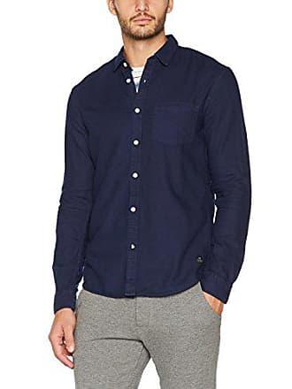 Tom Picqué Blue Tailor Azul cosmos Hombre Shirt Para Camisa 6814 Medium Denim Overdyed rqrft