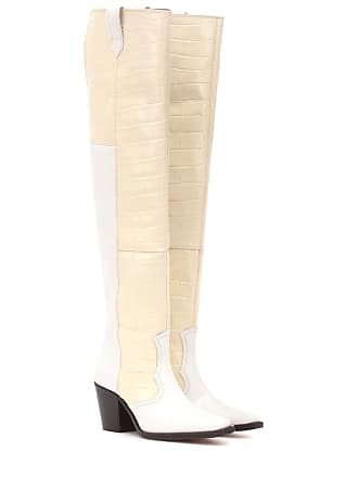 High Cowboy Leather Boots Western Ganni vfq6Zq