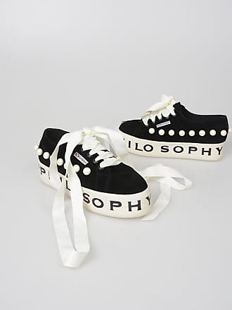 Leather With Pearls Sneakers Size Philosophy 36 Superga Platform ZukXPi