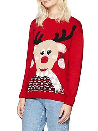 Damen Mela Pullover Jumper Reindeer Mrs Christmas WPdY1ndwq