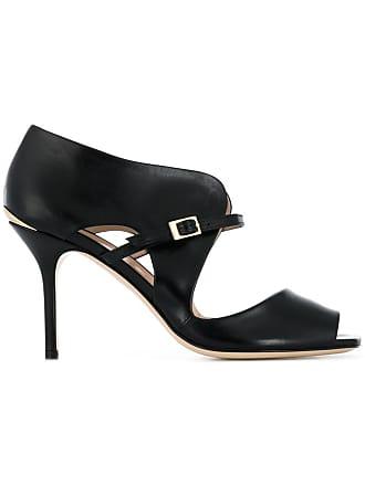 ouvert Noir sandales à Pollini bout gxBqnT