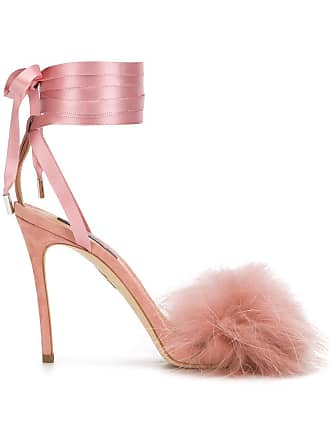 Neutres Fur Sandals Embellished Dsquared2 Tons BFnqOIXw