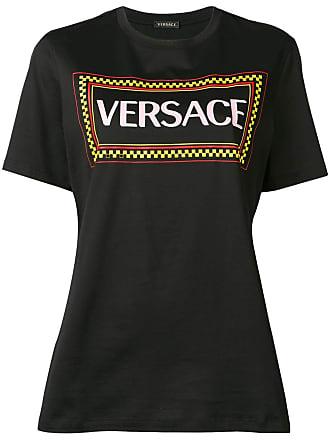 shirt Versace Met Logo Vintage T Zwart 90s 1wxwS