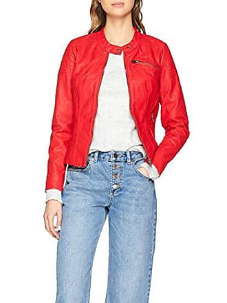 high Leather Jacket Rouge Femme Otw Risk Red Blouson Onlflora Cc Only Faux zqSwT