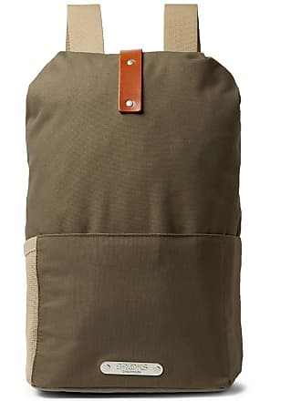 England Brooks Dalston Canvas Green Leather Army trimmed Backpack UdATdq